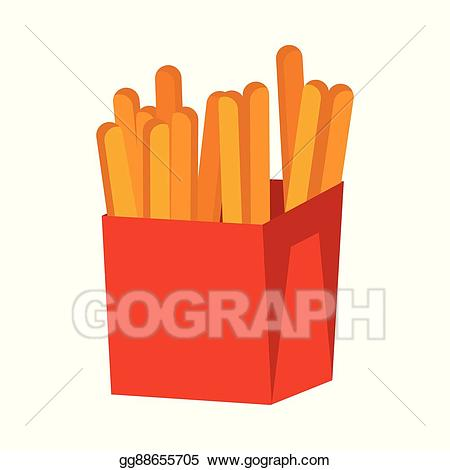 Clip art vector french. Fries clipart crispy