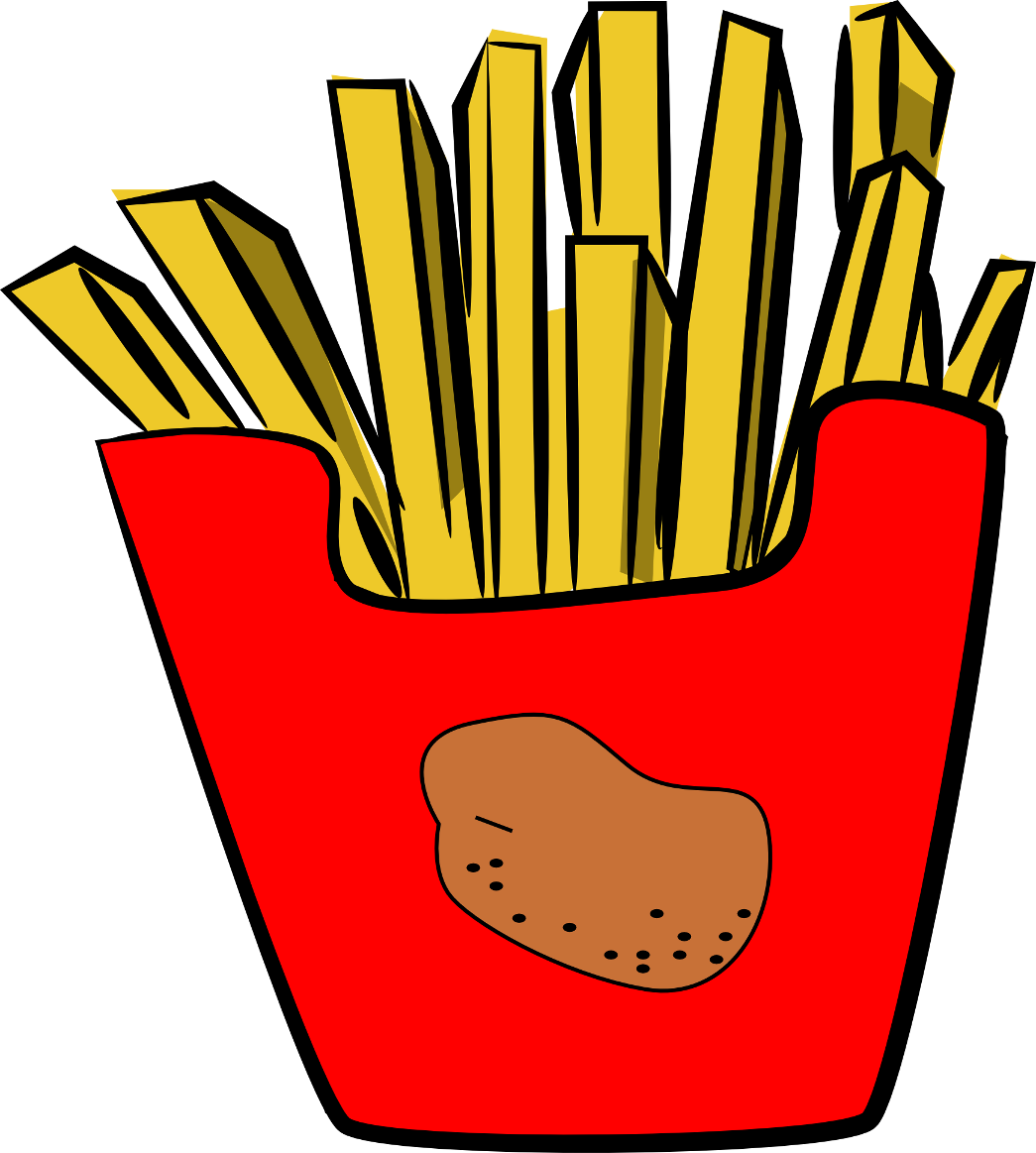 collection of french. Fries clipart cute