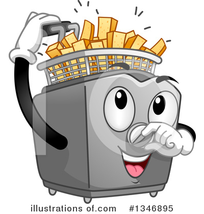 French illustration by bnp. Fries clipart deep fried