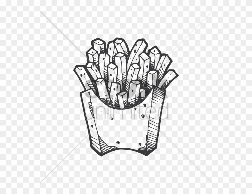 Drawinhg french drawing clip. Fries clipart drawn