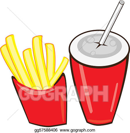 Eps illustration and french. Fries clipart drink