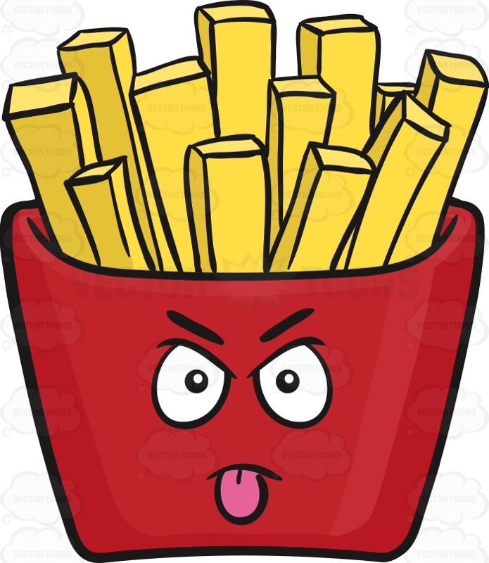 Fries clipart face.  french fry clipartlook