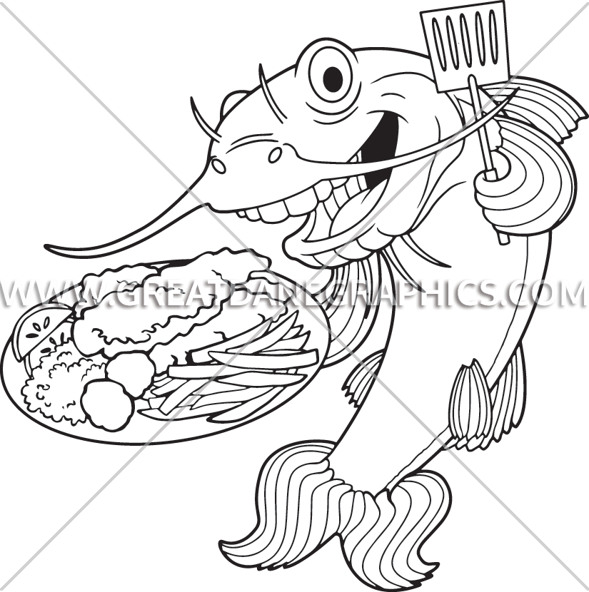 Fry catfish production ready. Fries clipart fish cook