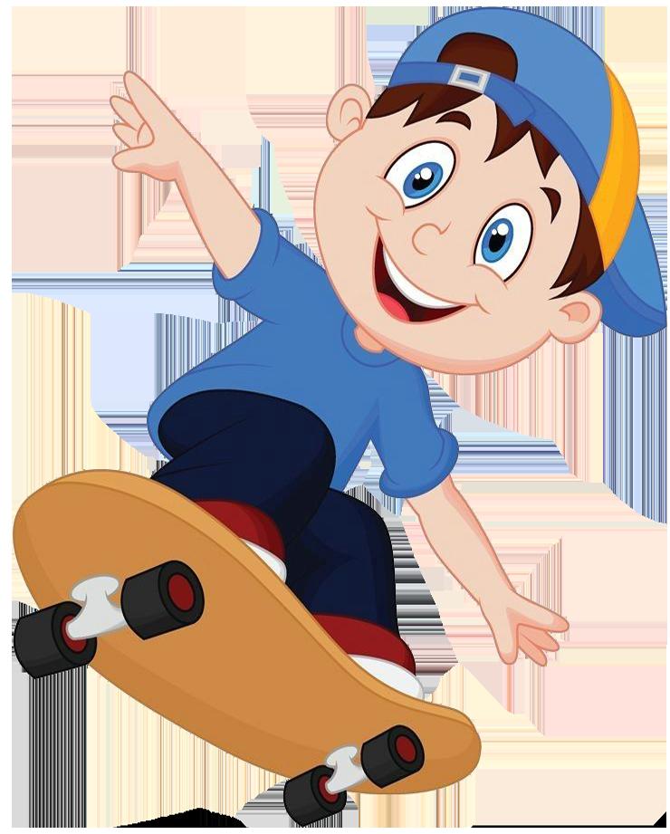 Cartoon skateboarding clip art. Fries clipart fun