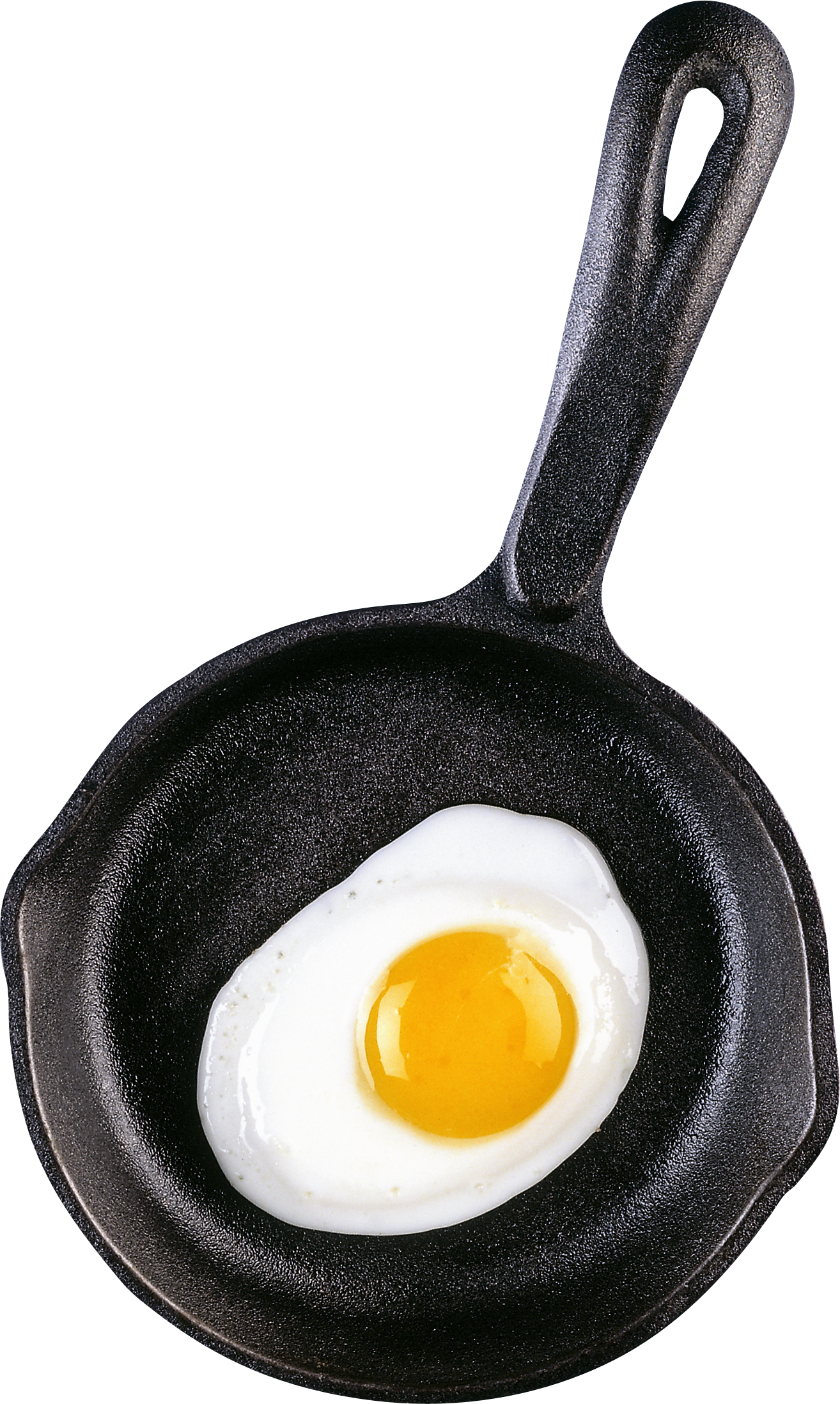 Cast iron egg on. Fries clipart hot frying pan