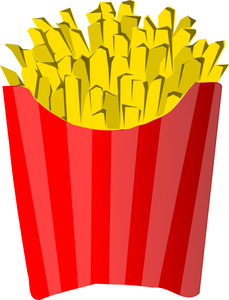 French clip art at. Fries clipart large