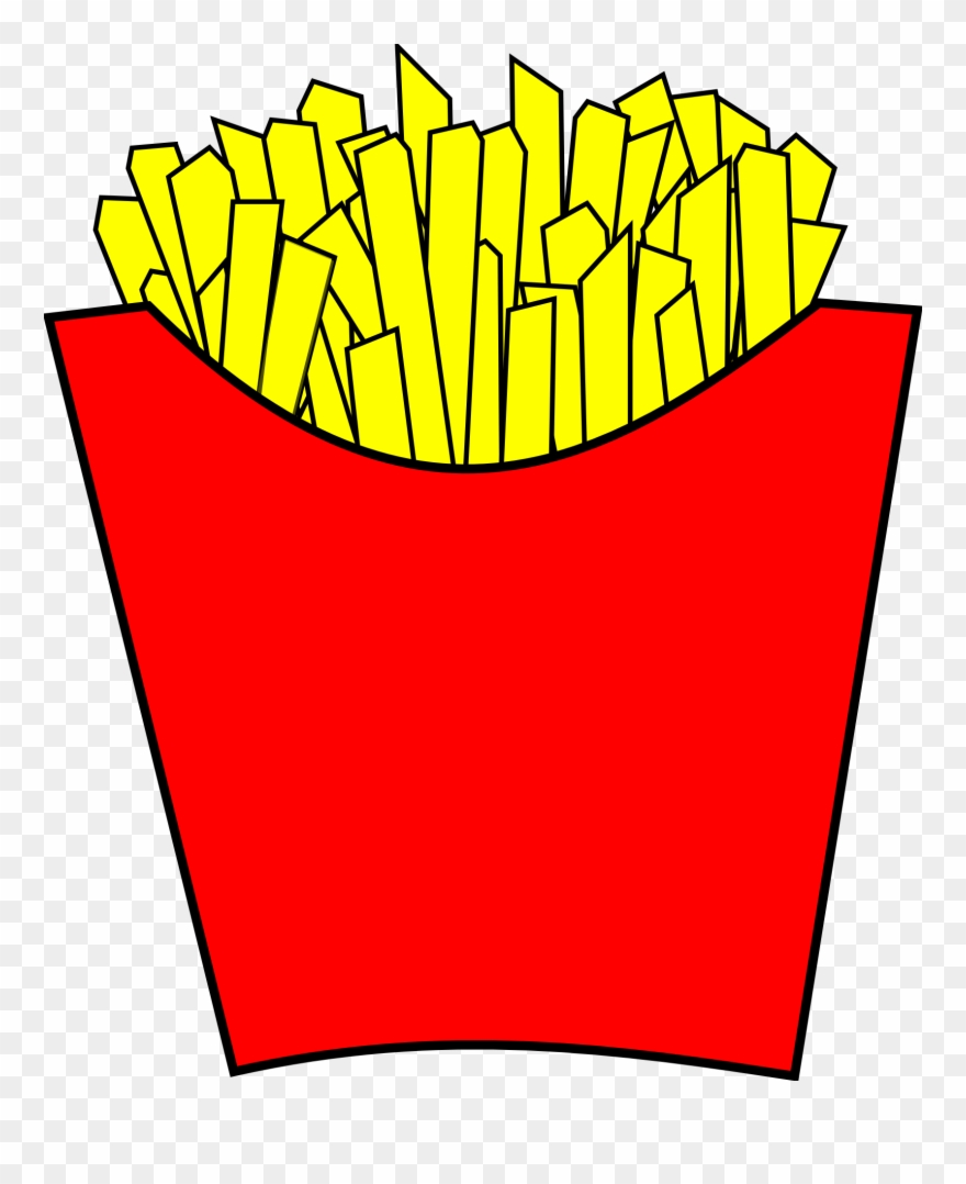 Fries clipart large. French mcdonalds png cartoon