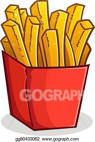 Fries clipart large. Vector illustration french in