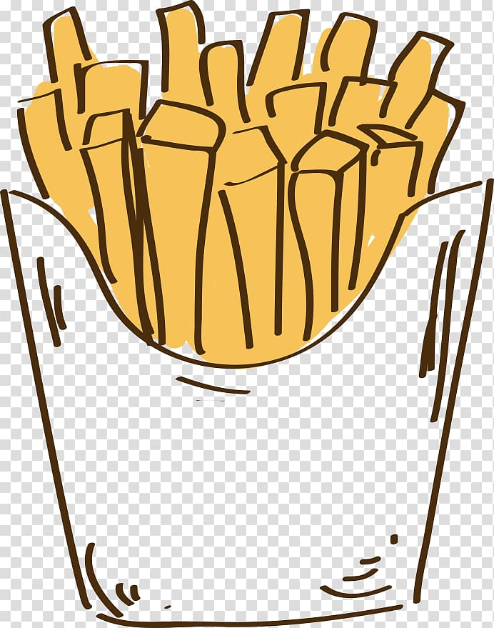 Hamburger french fried chicken. Fries clipart painting