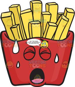 Fries clipart red. Pained pack of french