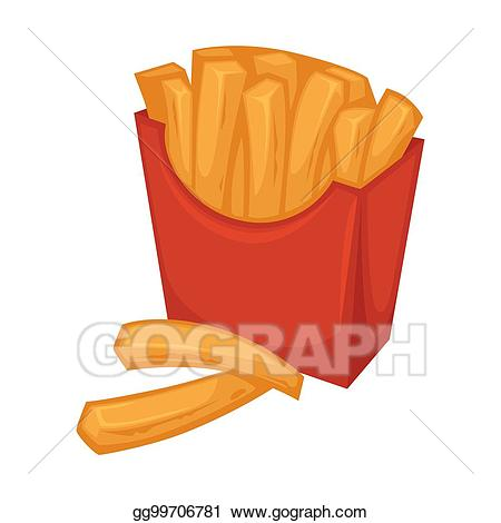 Vector art delicious french. Fries clipart red