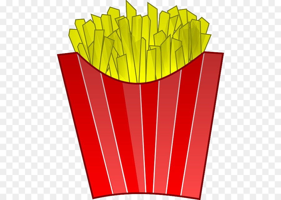 French yellow line transparent. Fries clipart red