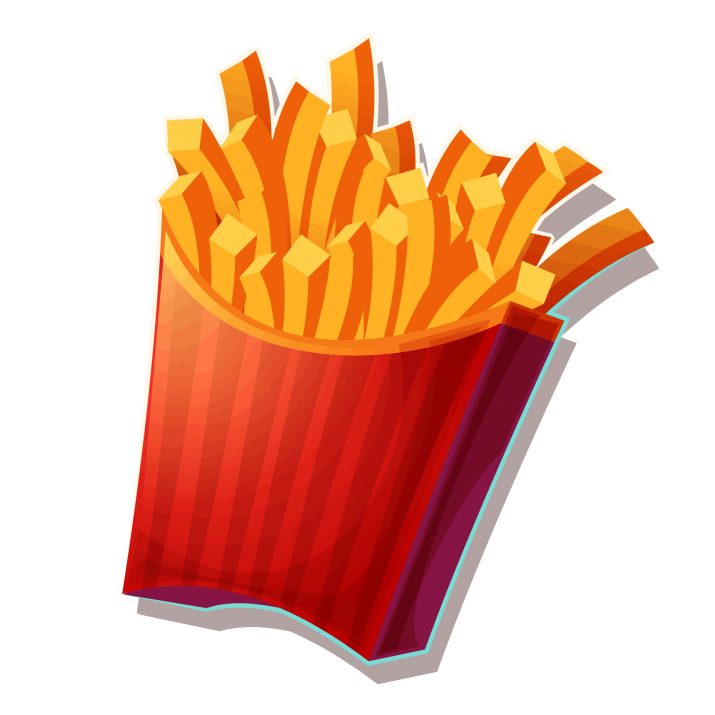 Fries clipart regular. Transparent png image free