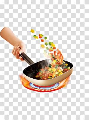 Frying pan transparent background. Fries clipart stir fry