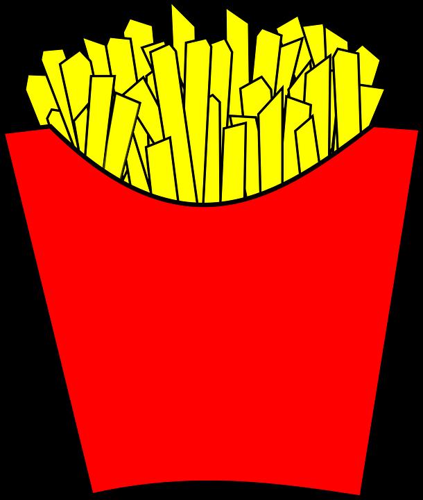 Fries clipart unhealthy food. Mcdonalds french hamburger fast