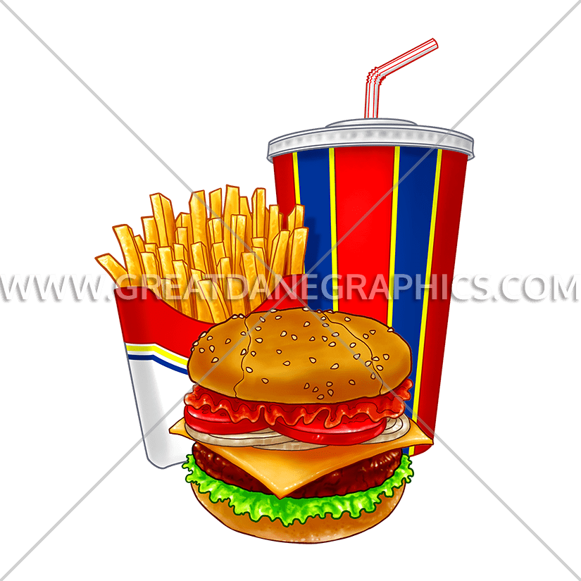 Fast food production ready. Fries clipart uses heat