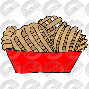 Picture for classroom therapy. Fries clipart waffle fry
