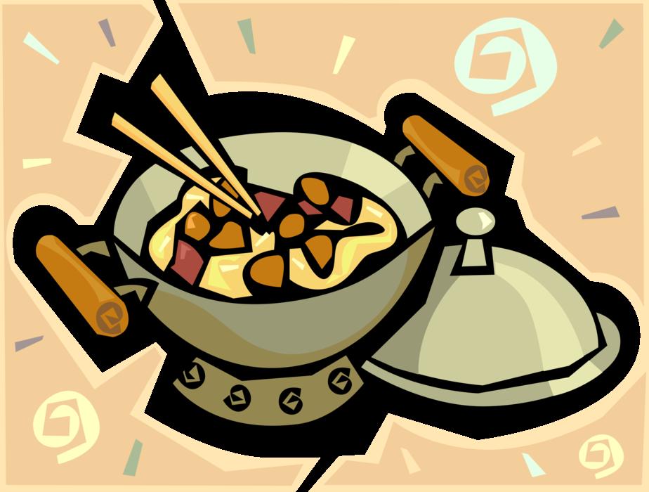 Fries clipart wok chinese. Cuisine stir fry dinner