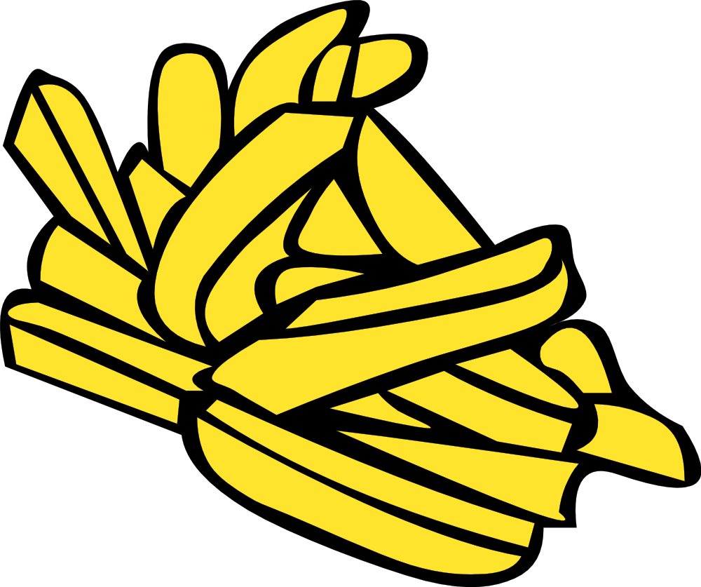 Onlinelabels clip art fast. Fries clipart yellow food