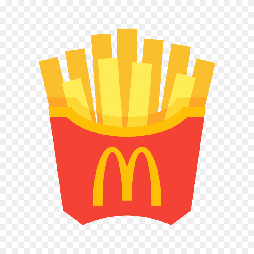 French side dish line. Fries clipart yellow food