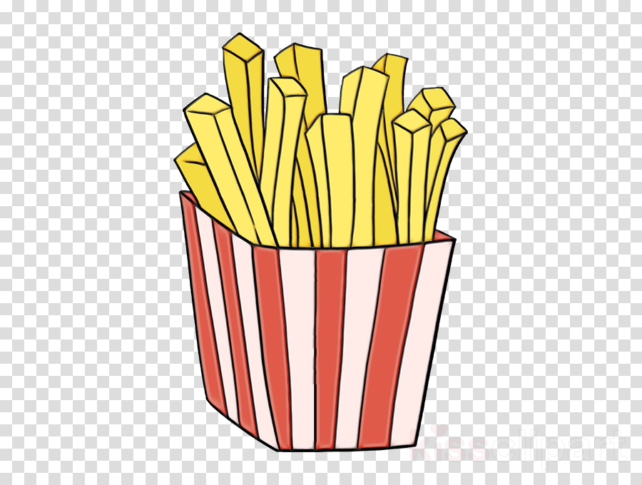 French fried . Fries clipart yellow food