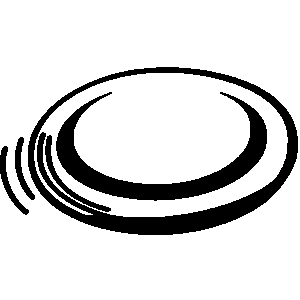 . Frisbee clipart