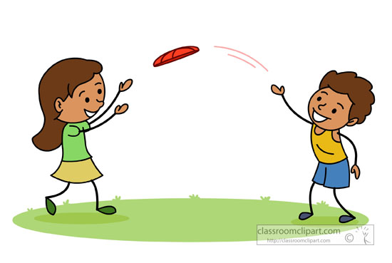Playing . Frisbee clipart