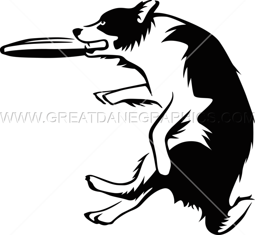 Pet clipart frisbee dog. Catch production ready artwork