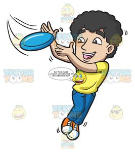 A guy leaps to. Frisbee clipart catch