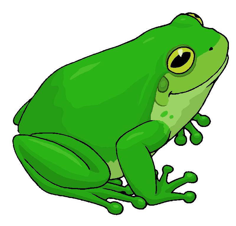 Frog clipart. Tree by misterbug on