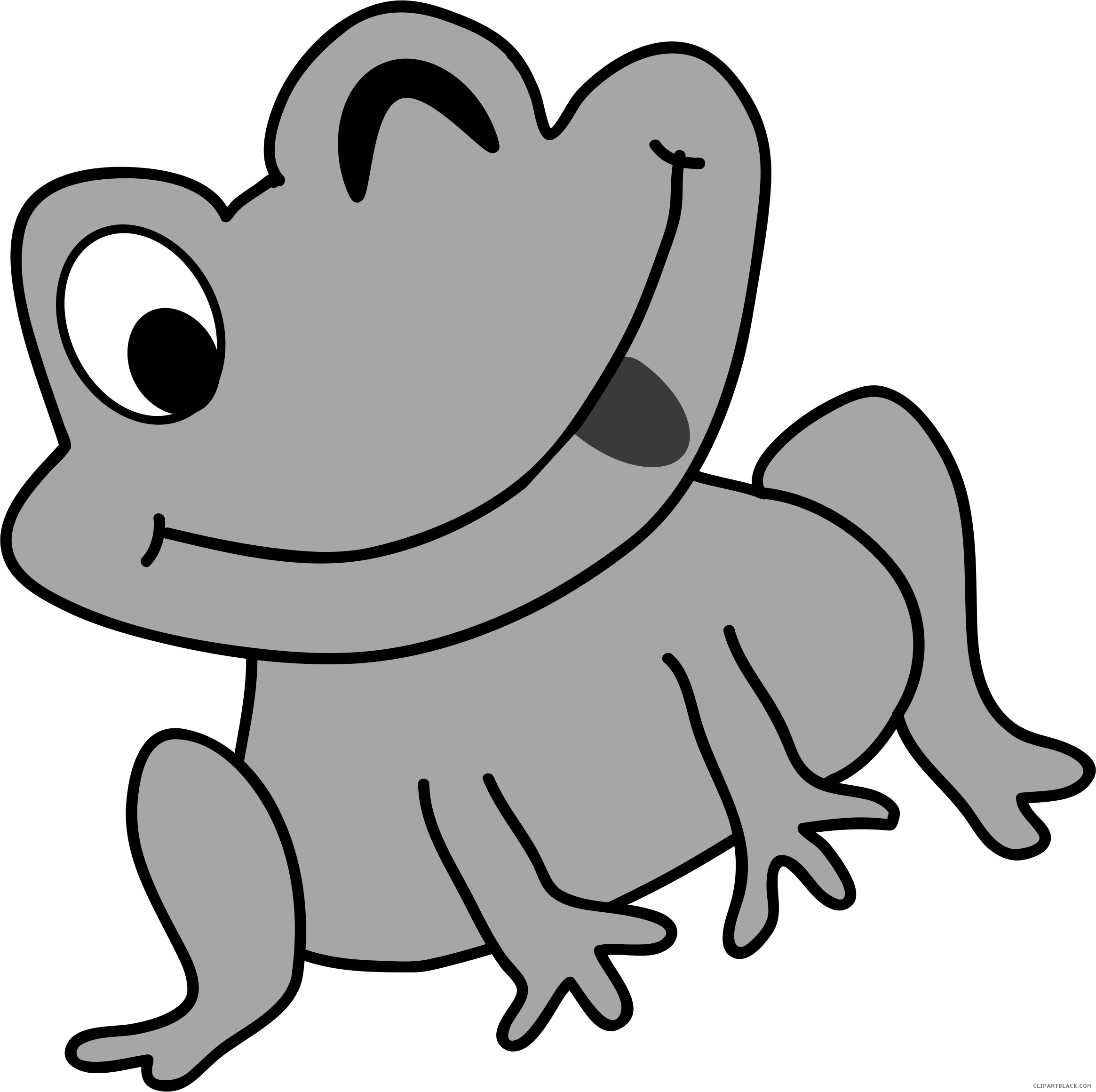 Grayscale page of clipartblack. Frog clipart black and white