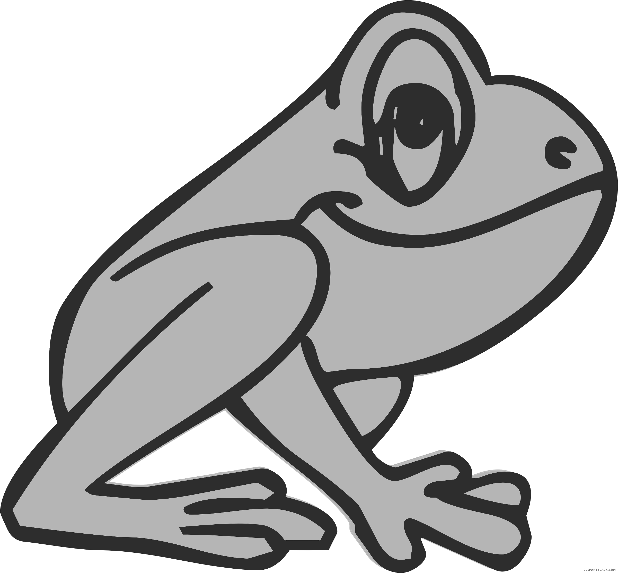Frog clipart black and white. Cartoon page of clipartblack