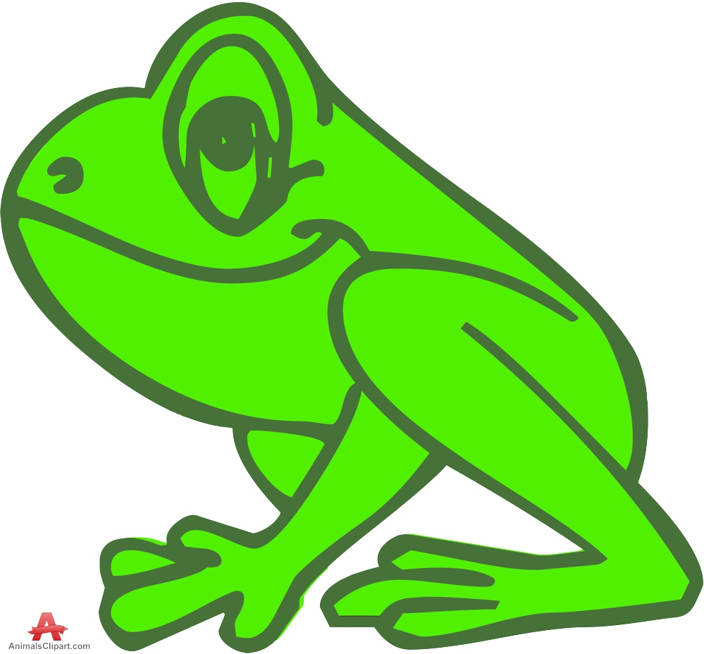 Frogs clipart colored. Outline frog free design