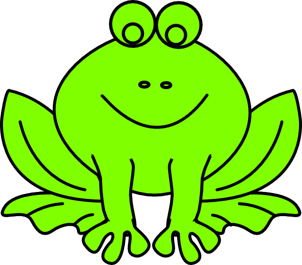 Photo. Green clipart frog