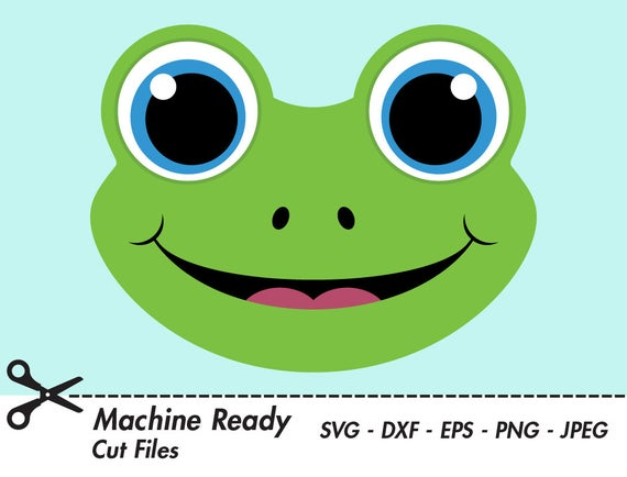 Cute frog svg cut. Frogs clipart head