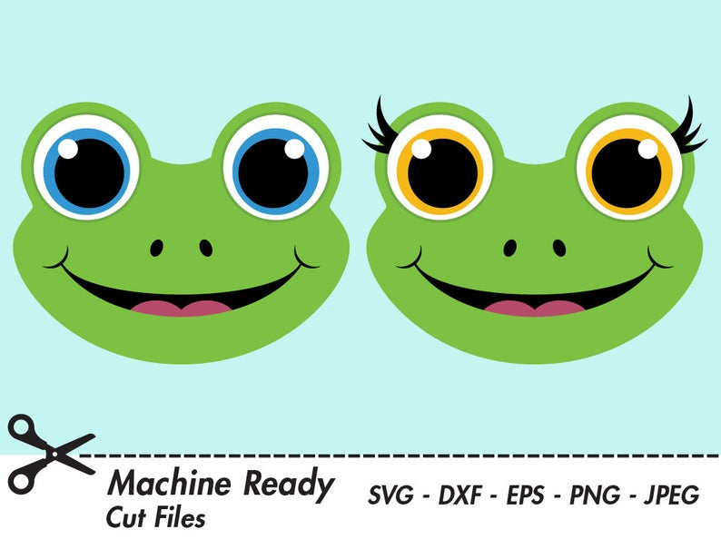 Frogs clipart head. Cute frog svg cut