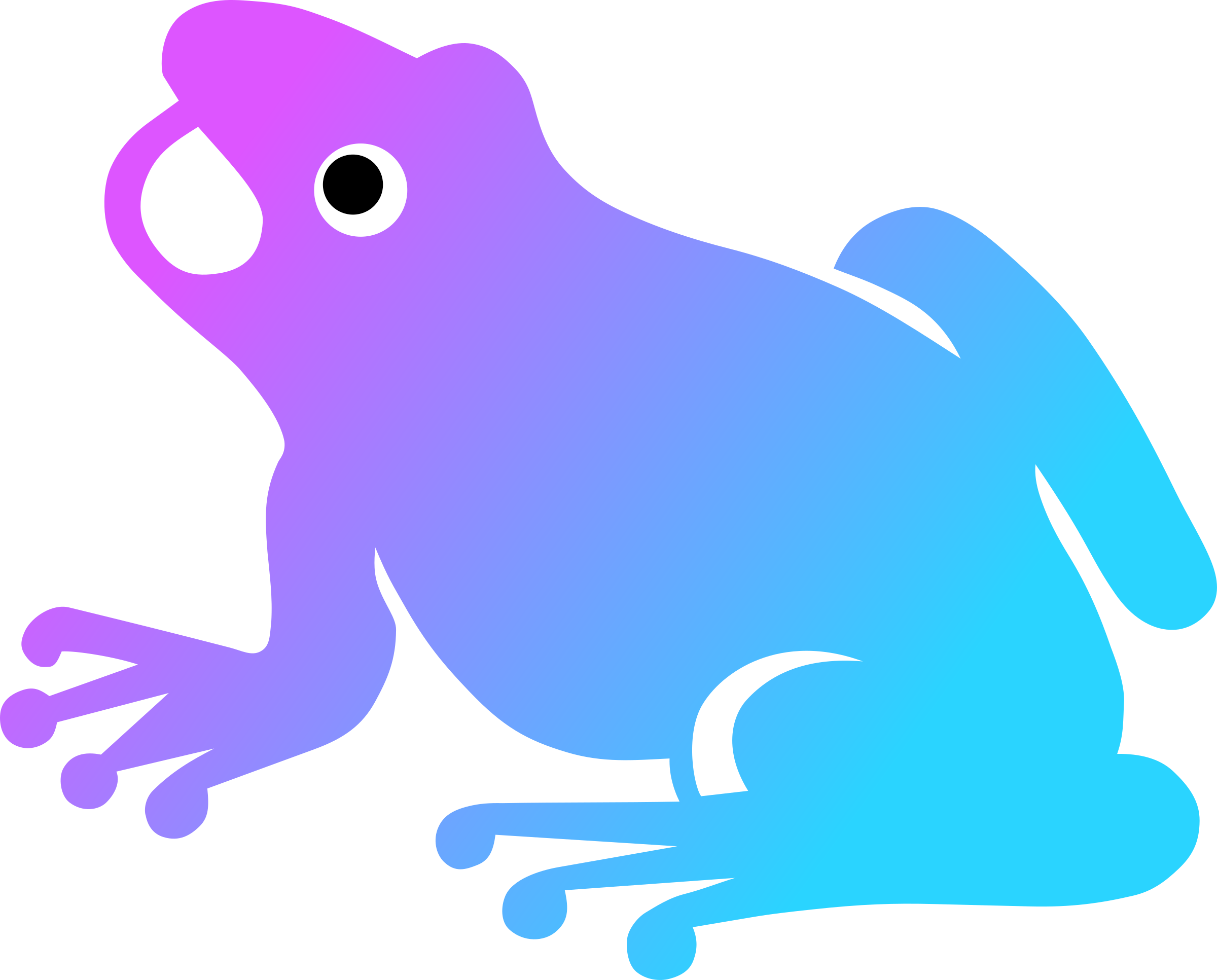 Silhouette clip art at. Frog clipart poison dart frog