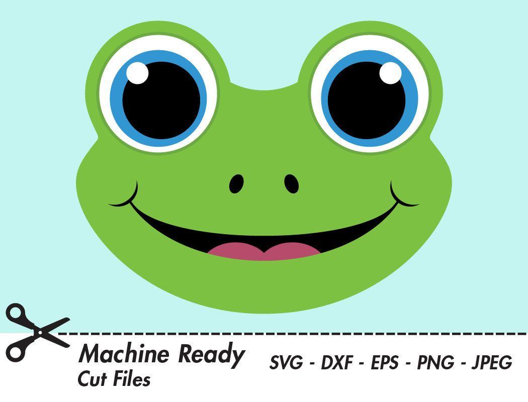 Frog clipart print. Cute svg cut files