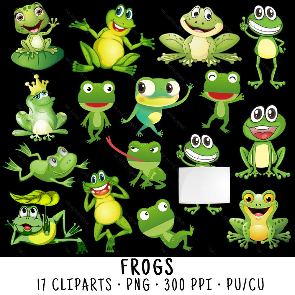 Cute clip art png. Frog clipart sign