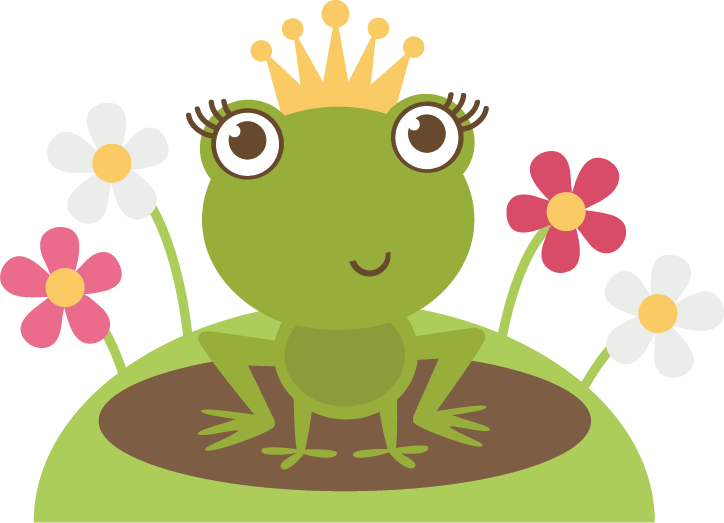 Frog clipart sign. Princess svg cutting file