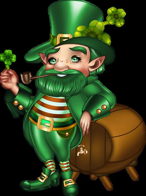 Tube patrick lutin irish. Frog clipart st patricks day