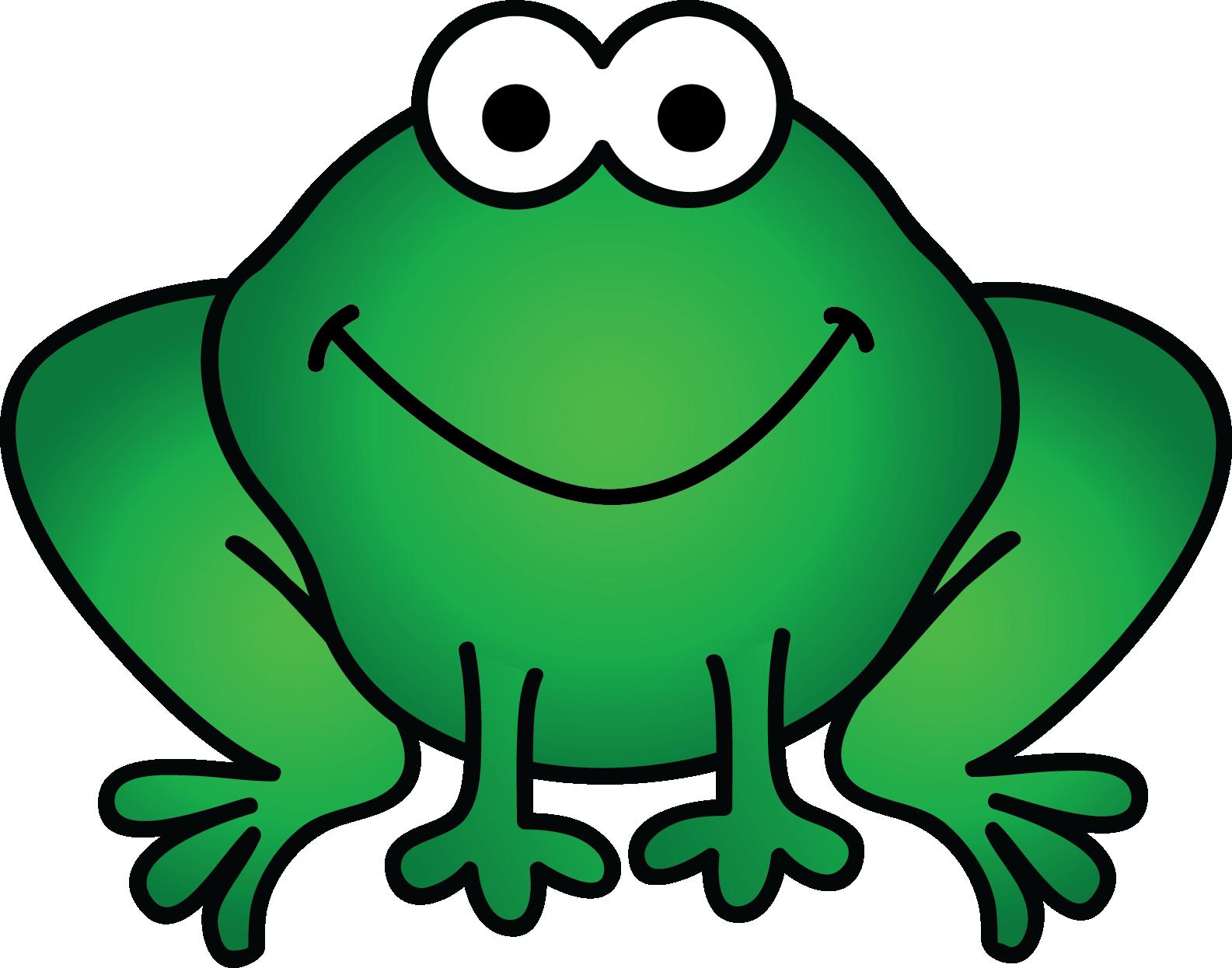 Clocks to the hour. Frog clipart teacher