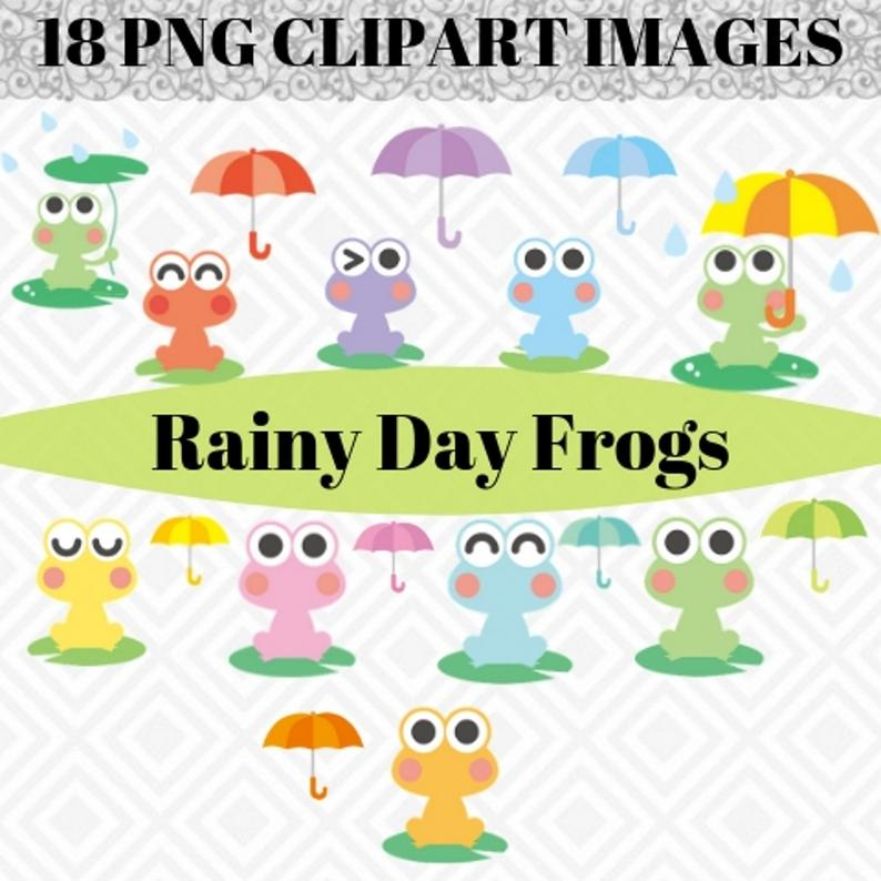 cute set for. Frog clipart thanksgiving