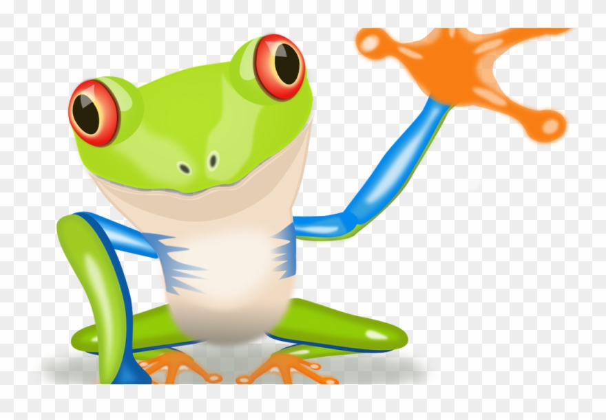 Life as a chameleon. Frog clipart tree frog