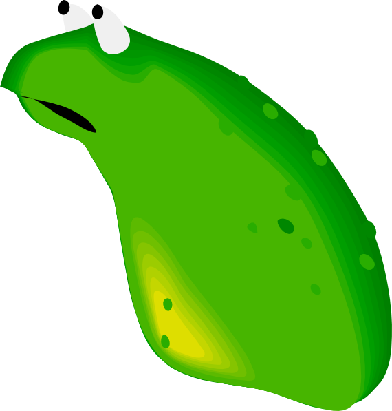With no legs clip. Leaf clipart frog