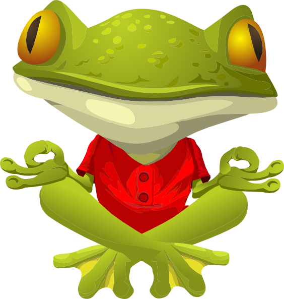 Meditation clipart yaga. Yoga frog clip art