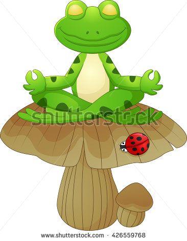 Frogs clipart yoga. Pinterest