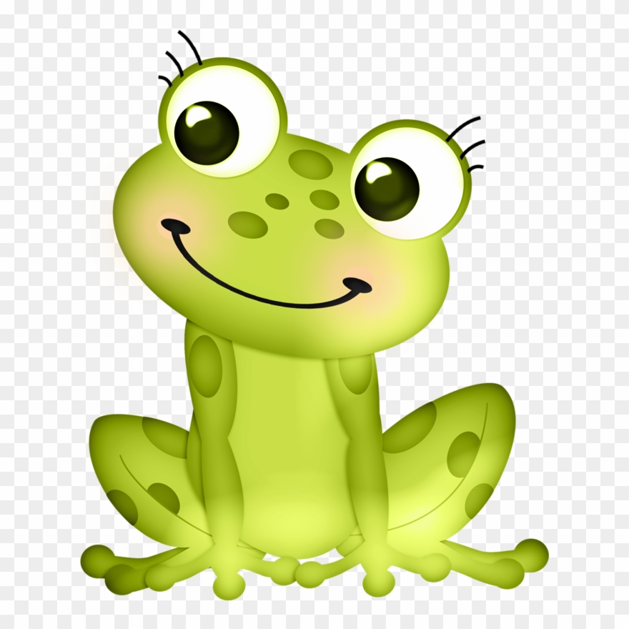 Green cartoon frog tree. Frogs clipart amphibian