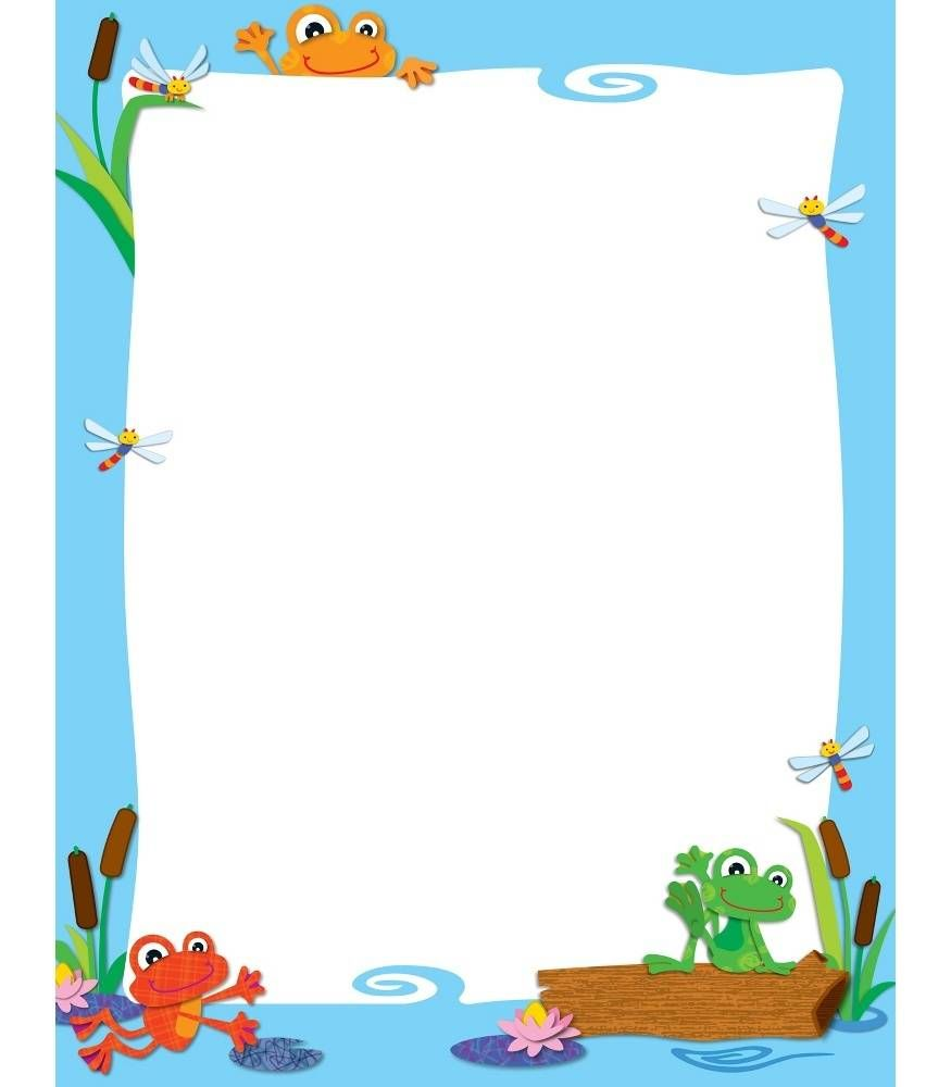 Frogs clipart borders. Funky chart theme frames