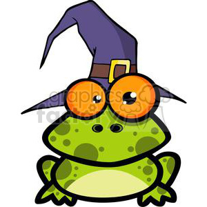 frog with a. Frogs clipart hat